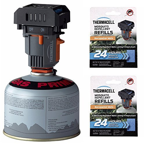 Thermacell MR-BP Backpacker Mosquito Repeller (Repeller w/ Extra Mats & Carry Case)