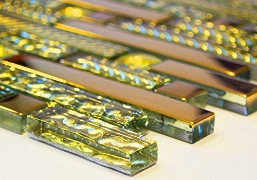 Rete mosaico mosaico piastrelle vetro crystal mix stratificato oro