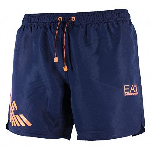Emporio Armani Herren Sea World Beachwear Fluo Eagle Boxers Boardshorts Gr. 56, Blue, Blu