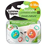 Tommee Tippee Closer To Nature: 2 x Schnuller 6-18m (Vogel)
