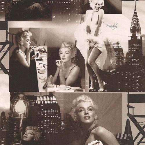 Tapeten Marilyn Monroe schwarz weiß neues Dekor