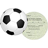 Set: 11 Einladungskarten Kindergeburtstag: Fussball Geburtstagseinladungen Einladungen Geburtstag Kinder Jungen Mädchen