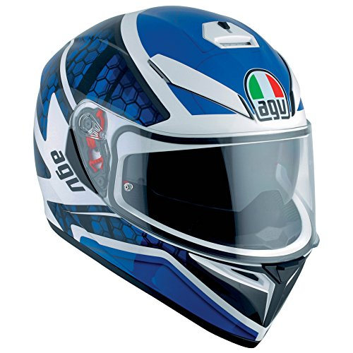 AGV K3 SV Pulse DVS Full Face - Casco moto, color blanco/negro/azul