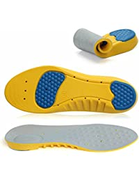 VEASTI Sport Shoe Insoles Inserts Comfort with Gel Heel Cup Arch SupportSemelles Sport