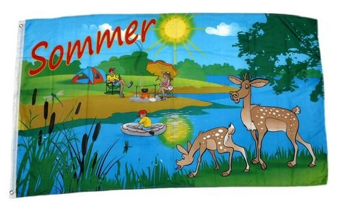 Fahne / Flagge Sommer See 90 x 150 cm