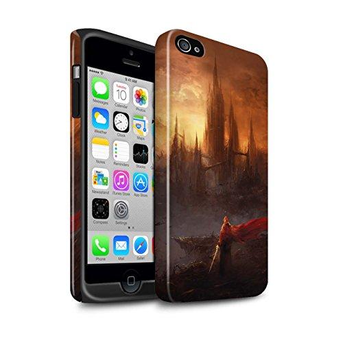 Offiziell Chris Cold Hülle / Glanz Harten Stoßfest Case für Apple iPhone 4/4S / Schiffswrack Muster / Gefallene Erde Kollektion Shadowgate Schloss