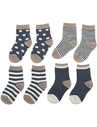 4 Paires Chaussettes en Coton pour Bébé Garçon Fille