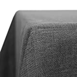 Deconovo Nappe Anti Tache Effet Lin Rectangulaire Impermeable Decoration de Table 150x300cm Gris