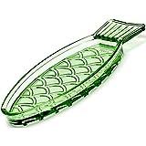 Piatto pesce piccolo - verde trasparente - 23 x 10 cm