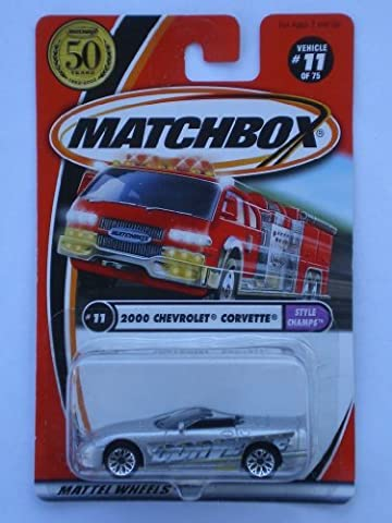 Matchbox 2002-11/75 Style Champs 2000 Chevrolet Corvette 50 Years 1:64 Scal by Matchbox