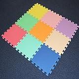 Alfombra, azulejos, 9piezas de enclavamiento suave para niños, de espuma EVA