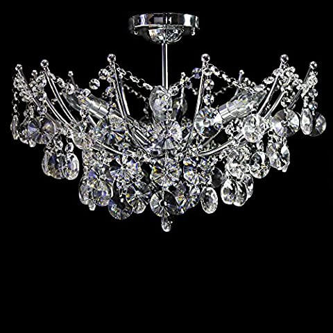 Dst Modern 6 Lights Clear Jewel Crystal Ceiling Pendant Light