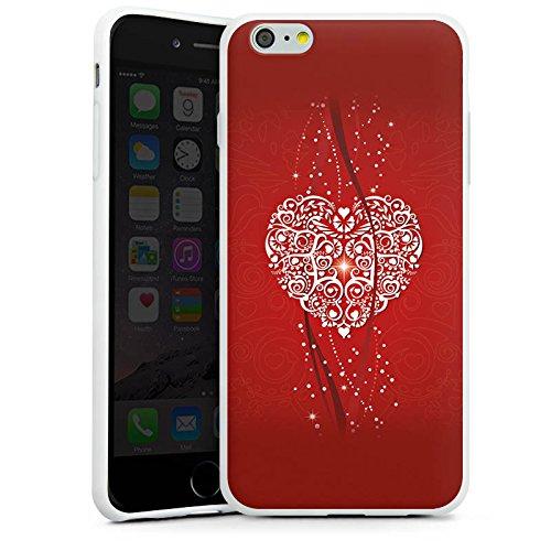 Apple iPhone X Silikon Hülle Case Schutzhülle Liebe Herz Valentinstag Silikon Case weiß