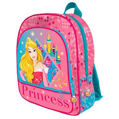 Disney Prinzessin AST4011 Kinder Rucksack, 41cm, 3 Taschen, Polyester, Aurora