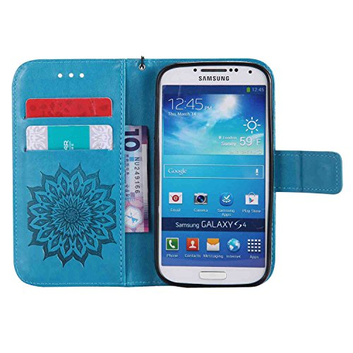 Guran® PU Leder Tasche Etui für iPhone 5 5S 5G Smartphone Flip Cover Stand Hülle und Karte Slot Case-Rosé gold blau