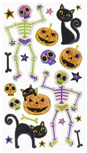 Sticko schwarz Katzen und Rahmengestelle Aufkleber (Halloween-verzierung Katze Schwarze)