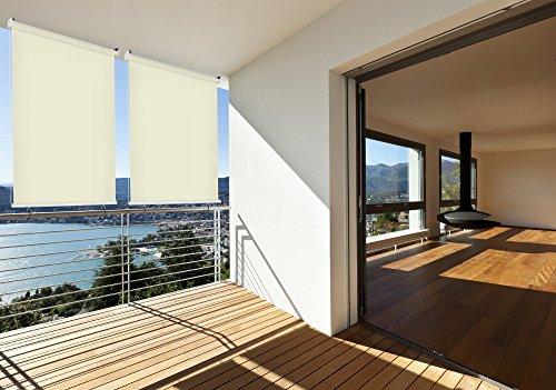 -rollo Balkon-rollo 180 x 230 cm beige creme Balkon-sicht-schutz 1 Stück ()