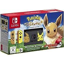 Nintendo Switch: Consola edición Pokémon + Let\'s Go Eevee (Preinstalado) + Poké Ball Plus (Edición limitada)