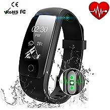 """Smart Watch IP67 Seguimiento de la actividad con monitor de ritmo cardíaco - Fitness Tracker 0.96 """"Pantalla OLED Bluetooth 4.0 Pedometer Smartwatch Wireless USB pulsera de carga pulsera con previsión meteorológica"""