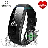 Braccialetto Fitness Activity Tracker HR Impermeabile Cardiofrequenzimetri Cardio Gps - Bluetooth...