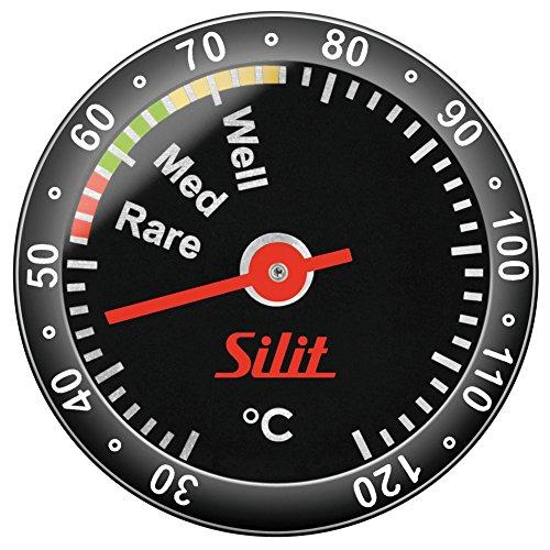 Silit Steakthermometer Sensero Grillthermometer Edelstahl rostfrei Glas Sonde rare medium well done bis 120°C