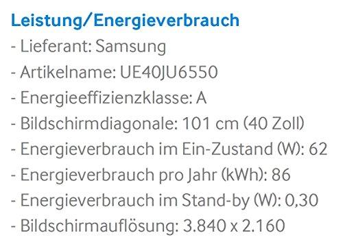 Samsung JU6550 101 cm (40 Zoll) 4k Fernseher - 3