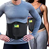 Ergonomic Umbilical Hernia Belt - Abdominal Binder for Hernia Support - Umbilical Navel Hernia Strap with Compression Pad - Ventral Hernia Support for Men and Women - L/XXL (106-145 cm)