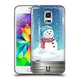 Head Case Designs Schneeman Weihnachten Im Einweckglas Ruckseite Hülle für Samsung Galaxy S5 mini