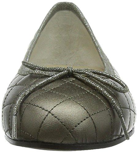 French Sole Henrietta Patent Quilt, Ballerine da Donna Grigio (Pewter)