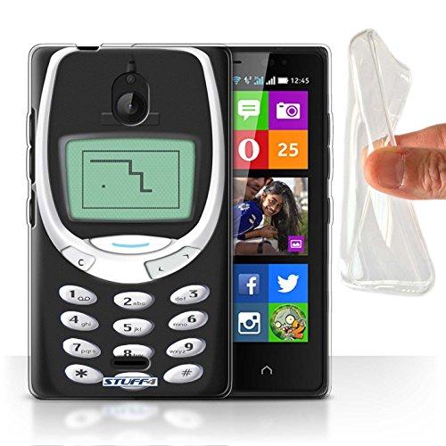 Stuff4® Gel TPU Hülle/Hülle für Nokia X2 Dual SIM/Schwarzes Nokia 3310 Muster/Vintage Handys Kollektion