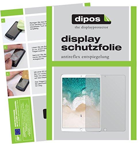 dipos I 2X Schutzfolie matt kompatibel mit Apple iPad Pro 10,5 Zoll Folie Displayschutzfolie