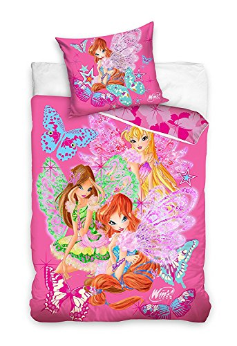 Copripiumino Winx.Bed Set Winx Club Fairies Duvet Cover 160x200 Original 100 Cotton