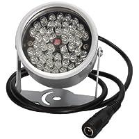 Sodial(TM) - Faretto a infrarossi 48 LED, illuminatore notturno per telecamera a circuito chiuso