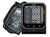 smartLAB pressure W monitor de presión arterial brazo con Bluetooth | Presión arterial máquina inalámbrica en negro | Funciona con Android, iOS, iPhone con la aplicación