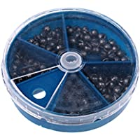 MagiDeal Caja de 103x Plomo de Forma Huevo Pesca Pescador Aparejo Hundimiento Rápido 5 Tamaños