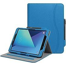"""Fintie Samsung Galaxy Tab S3 9.7 Funda, [Multi-Ángulo de Visualización] Slim Stand Case Plegable Smart Cover con Auto-Sueño / Estela para Samsung Galaxy Tab S3 9.7"""" Tablet, Azul Real"""
