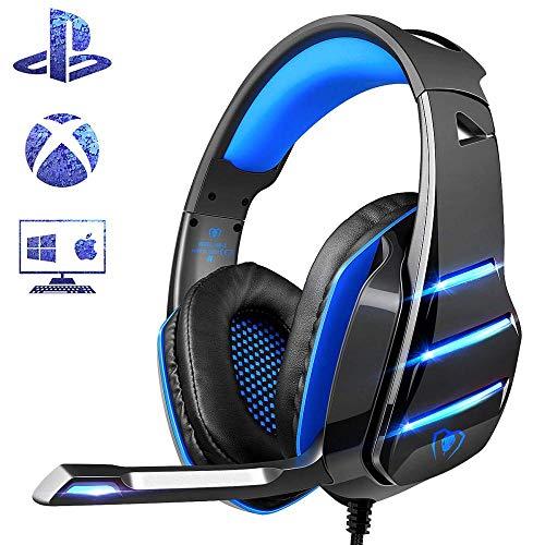 GINY Gaming-Kopfhörer, Surround-Gaming-Kopfhörer, Mikrofon-Soft-Memory-Ohrhörer für PC und