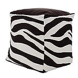 Tukan - Seduta a forma di cubo con fantasia zebrata