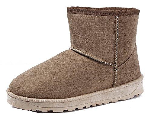 Classic Ageemi Renforcé Camel Hiver Flat À Suedé Femme Bottes Shoes OqxwXEtX