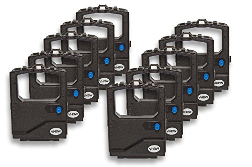 vhbw 10x Farbband Schriftband passend für OKI Microline 240, 3390, 3390 eco Nadeldrucker, Bondrucker schwarz