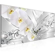 Cuadros de 100 x 40 cm - Cuadro de Orquídea - Cuadro en lienzo no tejido - Imagen artística en lienzo para la pared - Impresión de arte – Imagen para la pared – Formato XXL –Más colores y tamaños en la tienda – ¡¡¡Totalmente estirados!!! ¡¡¡100 % FABRICADOS EN ALEMANIA!!! - 209112a