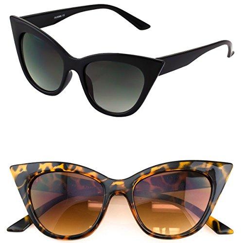 KISS Occhiali da sole CAT EYE mod. THICK NIKITA fashion vintage DONNA glamour rockabilly