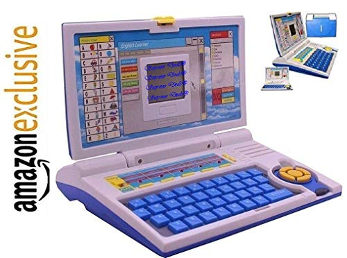 Supreme Power Educational Laptop for 20 Fun Activities Enhanced Skills of Children Premium Quality Kids Educational Purpose for Boy & Girls Best English Learner Laptop