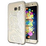 NALIA Handyhülle für Samsung Galaxy S7 Edge, Slim Silikon Motiv Case Hülle Cover Crystal Schutzhülle Dünn Durchsichtig, Etui Handy-Tasche Backcover Transparent Bumper, Designs:Artificial Flowers