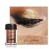 Sparkly Lidschatten SOMESUN Augen Makeup Perle Metallic Lidschatten-Palette (#10)
