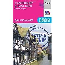 Canterbury & East Kent, Dover & Margate 1 : 50 000 (Landranger Map Active)