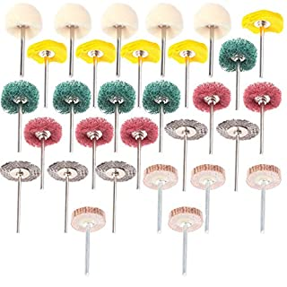 ZFE 30Pcs Polishing Pad Buffing Wheel Brushes Mixed Set Dremel Accessories for Rotary Tool