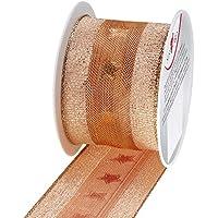 Susy Card 40003450 Navidad de tela cinta con alambre, 2 mx40 mm, en carrete
