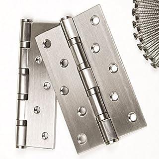 2 Stück SO-TOOLS® Schwerlast Aufschraubbänder/Tragkraft 75 kg/Materialstärke 2,5 mm / 125 x 75 mm/Aufschraub-Scharnier aus Edelstahl/Türscharnier Türbänder mit wartungsfreien Gleitlagern