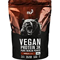 nu3 Vegan Protein 3K Chocolate Blend | 1Kg plant based protein | vegan protein powder made from 3-component protein | with 70% protein and delicious chocolate flavor
